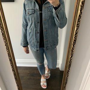 GAP oversized jean jacket - L
